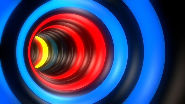 Kleurrijke tunnel