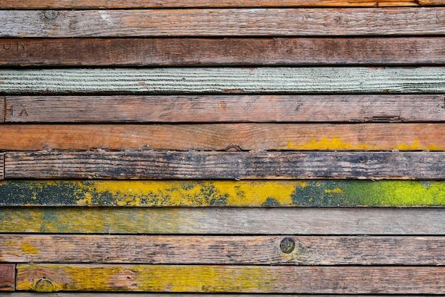 Kleurrijke uitstekende houten abstracte achtergrond