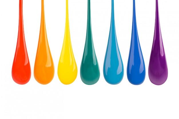 Kleurrijke verf druipt naar beneden