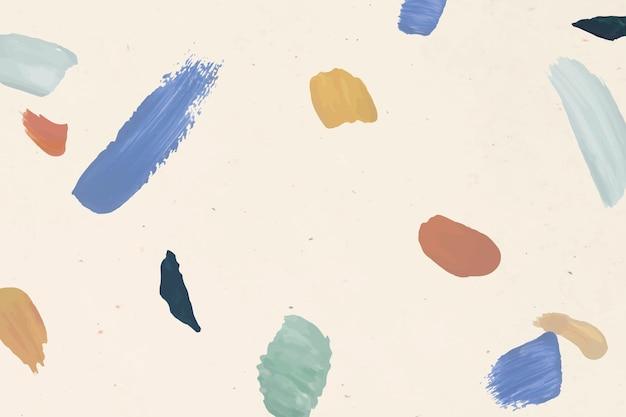 Kleurrijke verf penseel patroon achtergrond