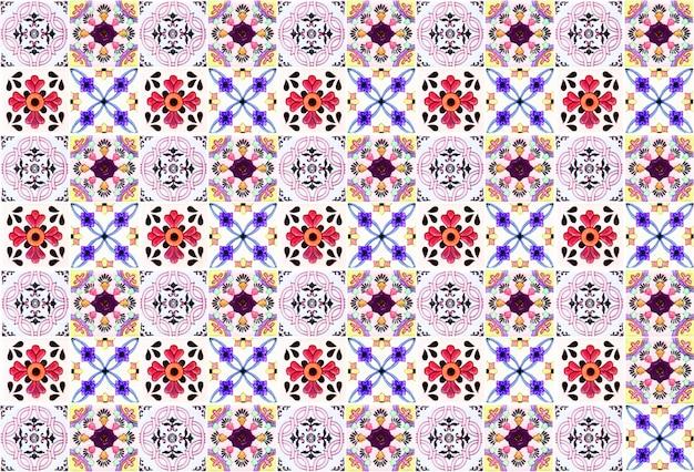 Kleurrijke vintage keramische tegels wanddecoratie