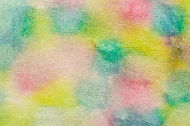 Kleurrijke vlekken handgemaakte techniek aquarelle