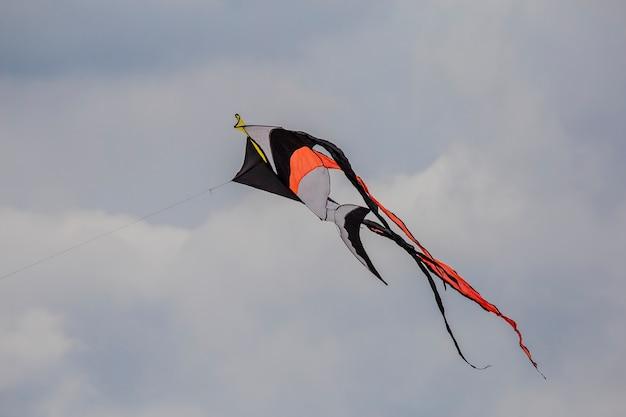 Kleurrijke vlieger in de lucht