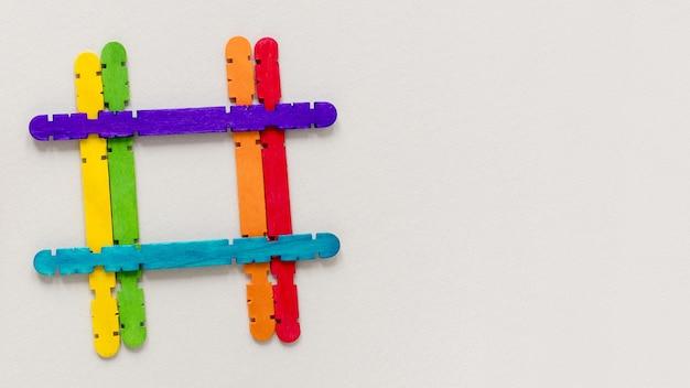 Kleurrijke vorm met kopie-ruimte