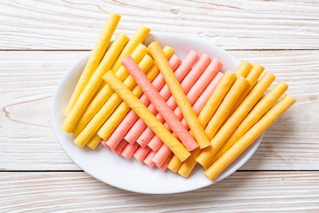 Kleurrijke wafel stick roll