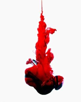 Kleurrijke werveling van rode en blauwe mix