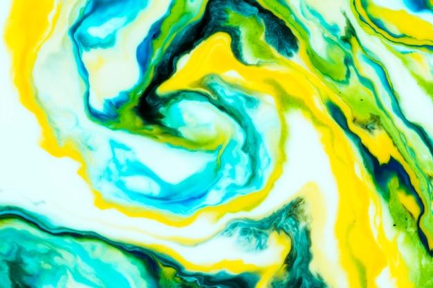 Kleurrijke wervelingen van olieachtige verftextuur