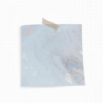 Kleverige nota met blauwe waterverfachtergrond