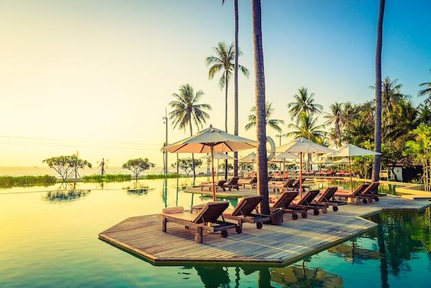 Klimaat landschap paradise hotel sunset