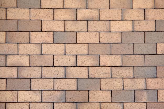 Klinker straatstenen textuur - bruine keramische tegels van stoep