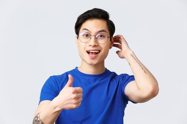 Knappe aziatische man