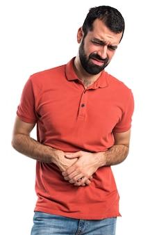 Knappe man met buikpijn