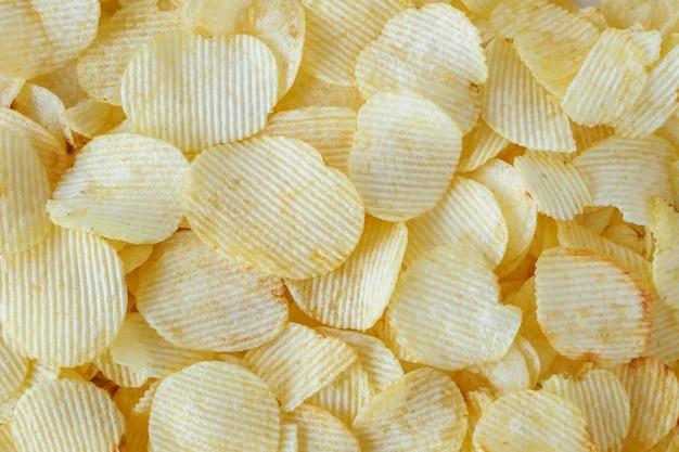 Knapperige chips snack textuur achtergrond