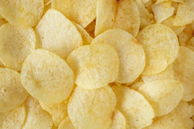 Knapperige chips snack textuur