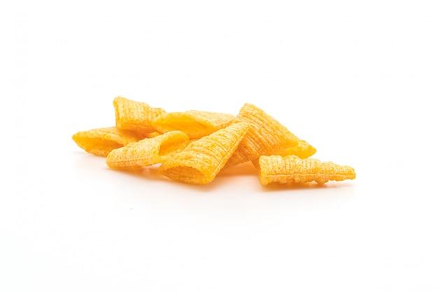 Knapperige maïs driehoekige snacks