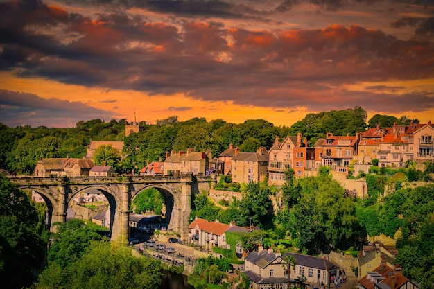 Knaresborogh town, north yorkshire, engeland. uk.