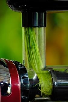 Knijpen tarwe gras