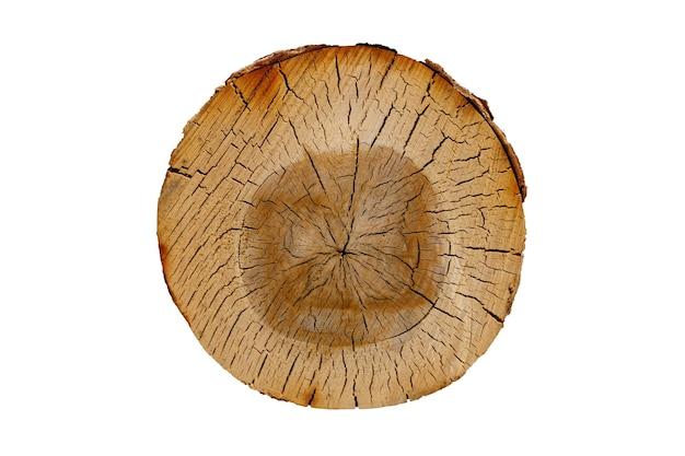 Knippen van de berk log geïsoleerd op een witte achtergrond. hout. hoge kwaliteit foto