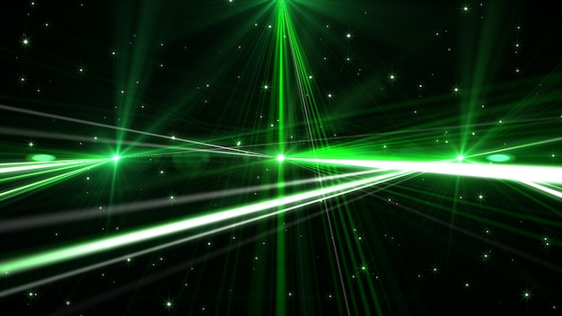 Knipperende groene gloedlaser
