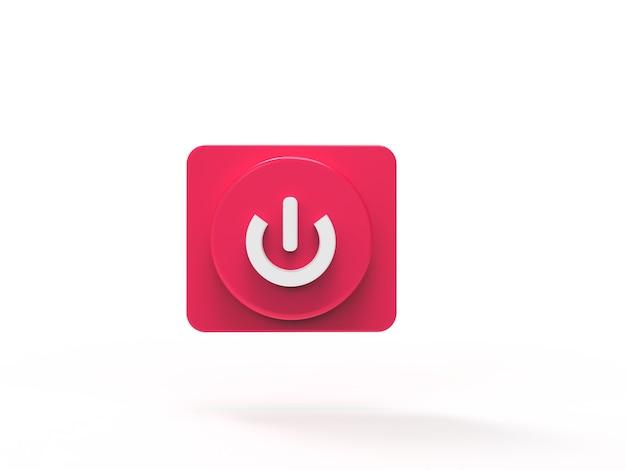Knop afspelen op muziekconcept sociale media 3d-visualisatie