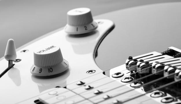Knop op een elektrische gitaar