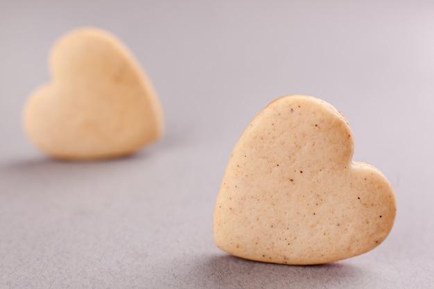 Koekjes in de vorm van een hart