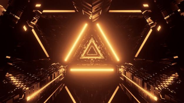 Koele futuristische abstracte scène met neonlicht