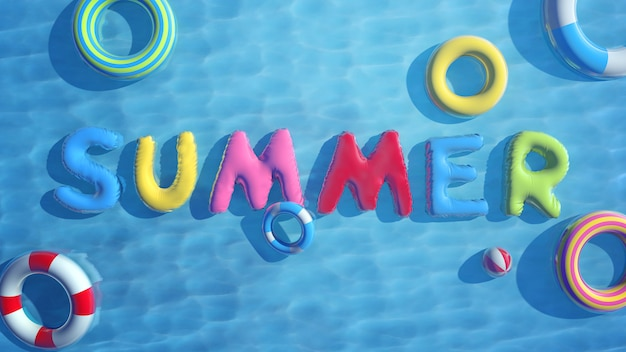 Koele zee in zomer illustratie