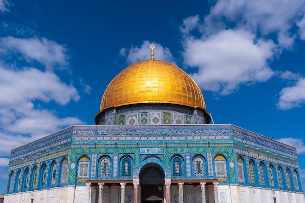 Koepel van de rots al-aqsa-moskee, de oude stad van jeruzalem, palestina