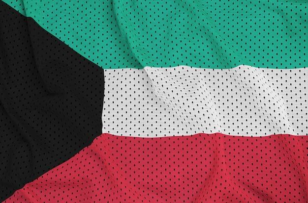 Koeweitse vlag gedrukt op een polyester nylon gaas