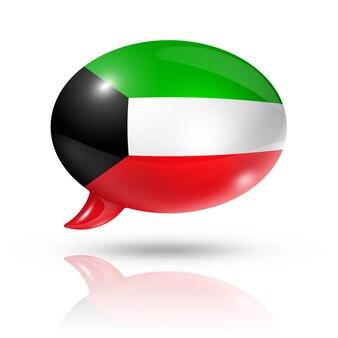 Koeweitse vlag tekstballon