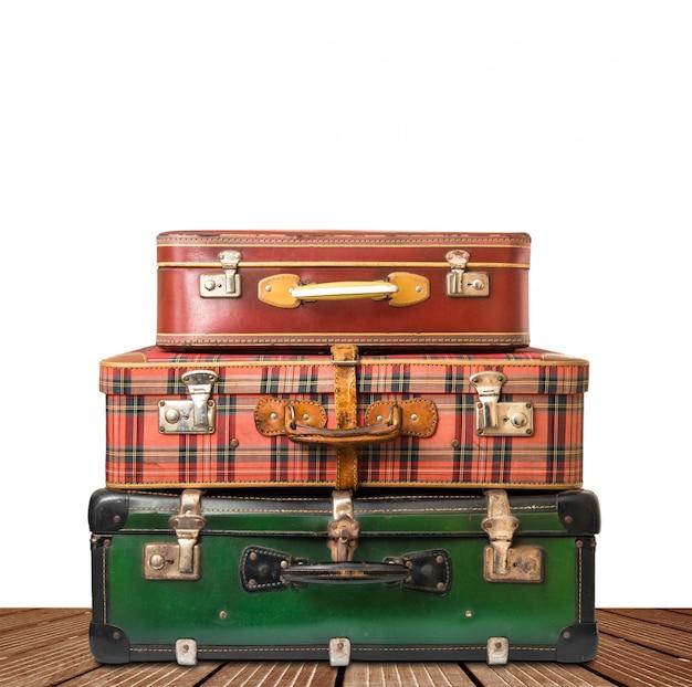 Koffer, bagage geïsoleerd