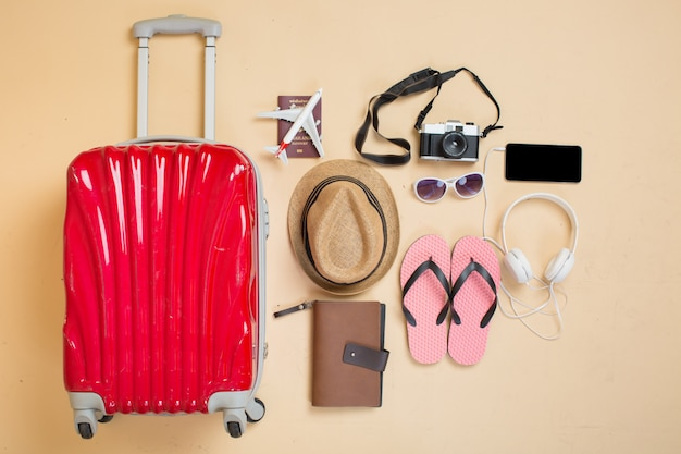 Koffer met accessoires voor reizigers