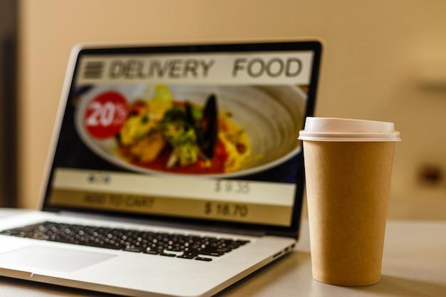 Koffie afhaal bestelling online levering menuconcept