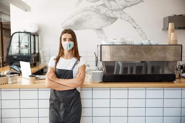 Koffie bedrijfseigenaarconcept