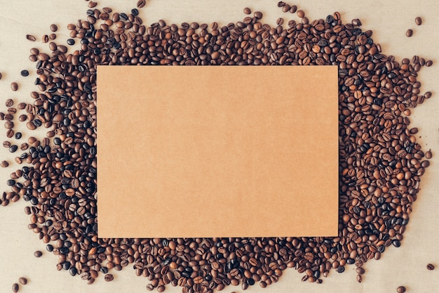 Koffie decoratie met karton