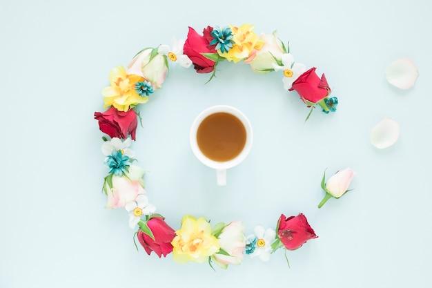 Koffie en bloemen