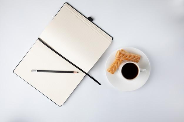 Koffie en een laptop
