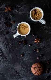 Koffie en goedemorgen concept