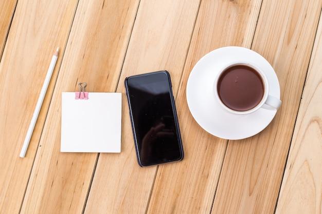 Koffie en telefoon