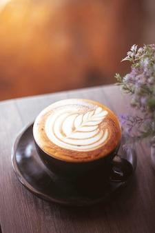 Koffie kunst in de ochtend