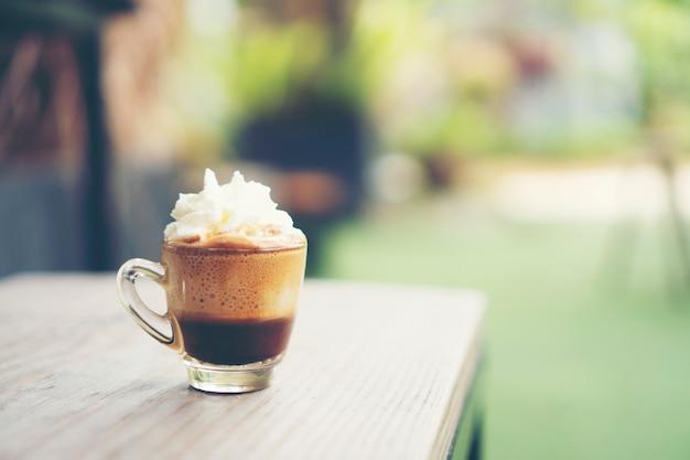 Koffie latte kunst, uitstekend filterbeeld