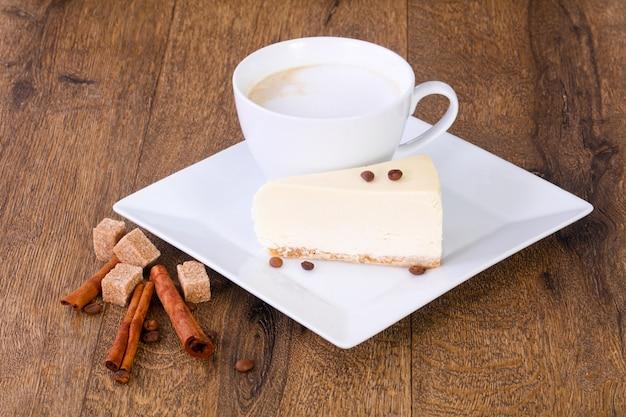 Koffie met cheesecake