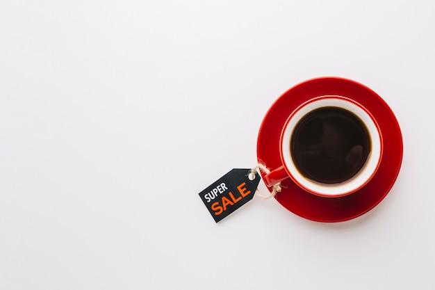 Koffie met zwarte vrijdagverkoop