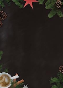 Koffie stijl schoolbord