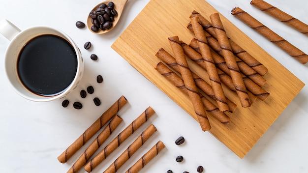 Koffie wafel stok