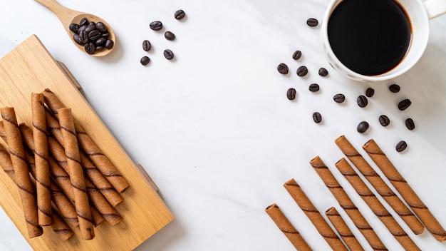 Koffie wafel stokje