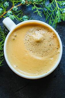 Koffie warme schuim cacaokop of warme chocolademelk