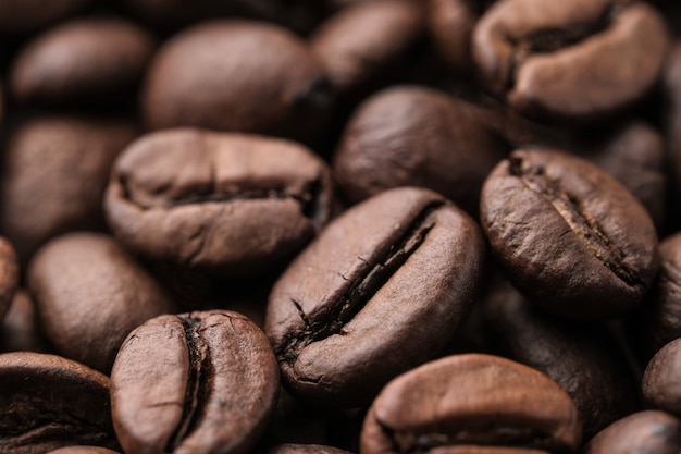 Koffiebonen macro achtergrond