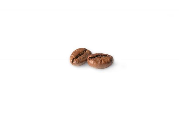 Koffieboon geïsoleerde het knippen weg op wit